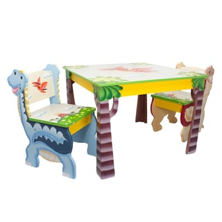 Fantasy Fields Dinosaur Kingdom 3-piece Kid's Table Set
