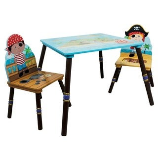 Fantasy Fields Pirates Island 3-piece Kid's Table Set