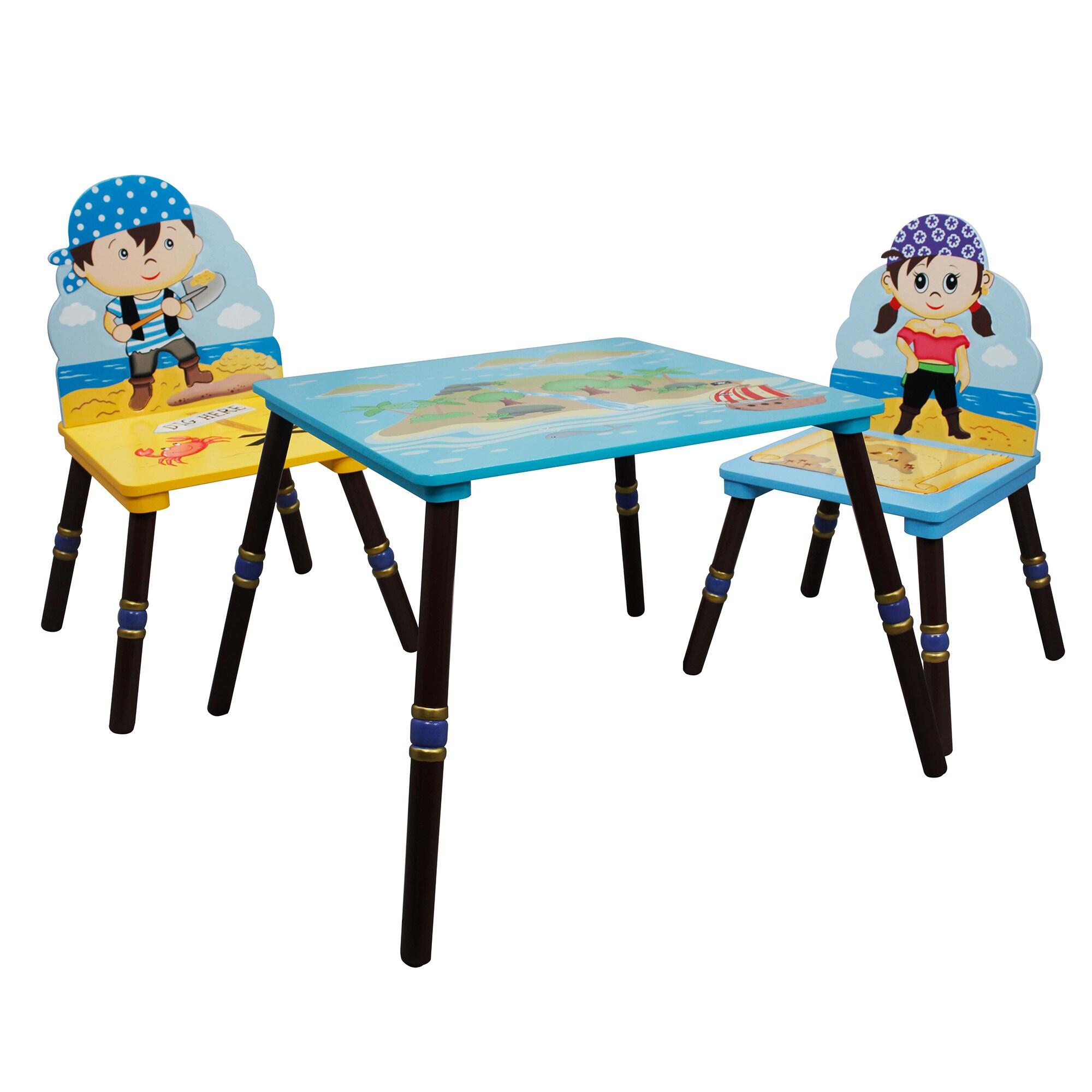 Teamson Fantasy Fields Pirates Island (Blue) 3-piece Kid'...