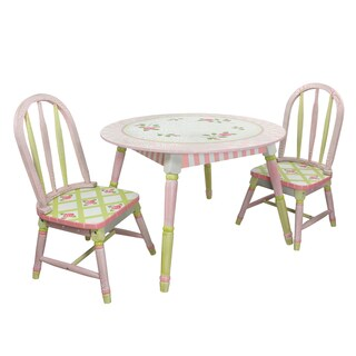 Fantasy Fields Crackled Rose 3-piece Kid's Table Set