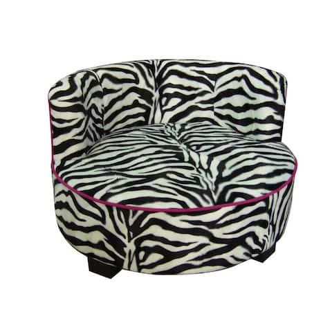 Round Pet Zebra Upholstered Print Furniture