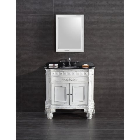 OVE Decors York 36-inch Single Sink Bathroom Vanity with Granite Top