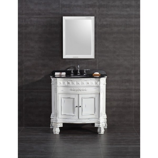 Charmant OVE Decors York 36 Inch Single Sink Bathroom Vanity With Granite Top