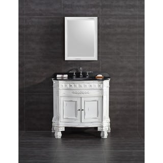 OVE Decors York 36 Inch Single Sink Bathroom Vanity With Granite Top