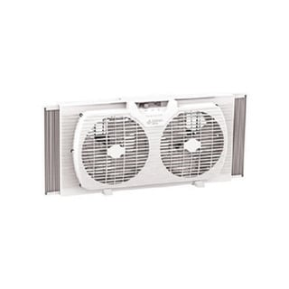 Comfort Zone CZ319WT 9-inch Twin Window Fan with Manual Reversible Airflow Control