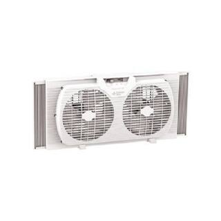 Comfort Zone CZ319WT White 9-inch Portable Twin Window Fan