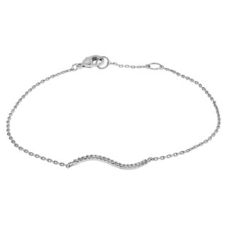 Journee Collection Metal Cubic Zirconia Wave Bracelet