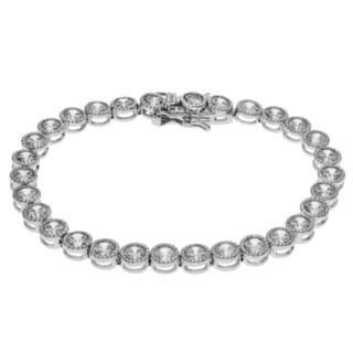 Journee Collection Metal Round Cubic Zirconia Tennis Bracelet