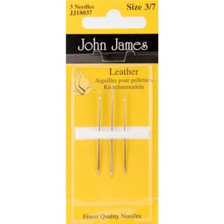 Leather Hand NeedlesSize 3/7 3/Pkg