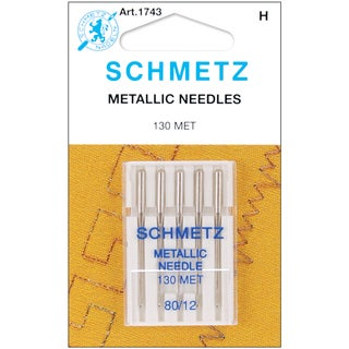 Metallic Machine NeedlesSize 12/80 5/Pkg