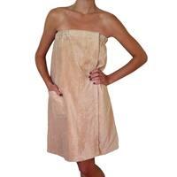 Women's Tan Spa and Bath Terry Cloth Towel Wrap