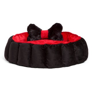Best Friends by Sheri Royal Cuddler Velvet Dog Bed