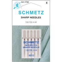 Microtex Sharp Machine NeedlesSize 12/80 5/Pkg