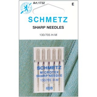 Microtex Sharp Machine NeedlesSize 8/60 5/Pkg