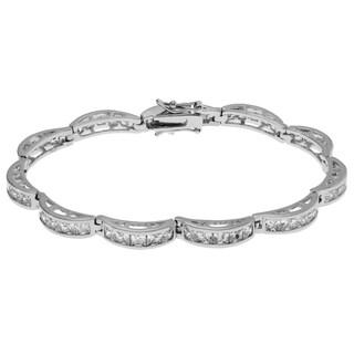 Journee Collection Metal Cubic Zirconia Link Bracelet