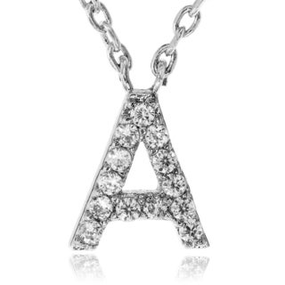 Journee Collection Metal Cubic Zirconia Letter Initial Pendant