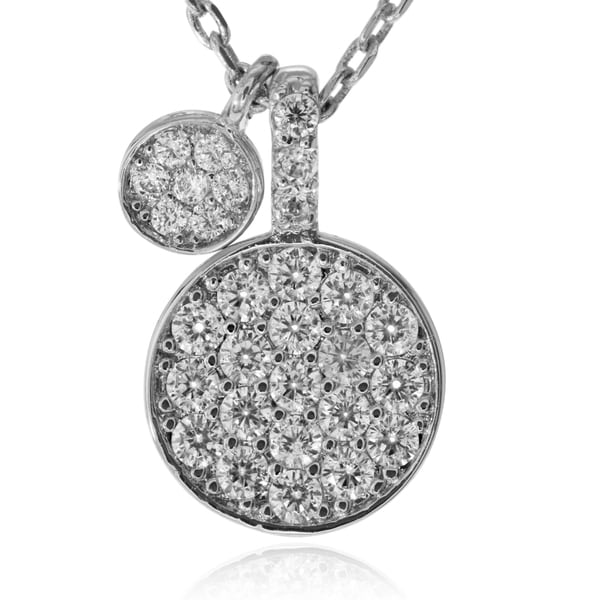 Journee Collection Metal Cubic Zirconia Circle Pendant