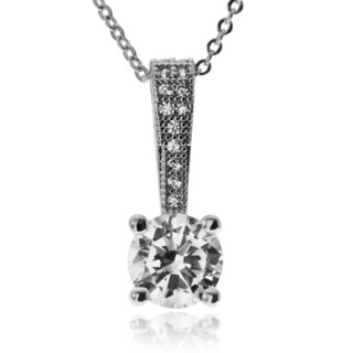 Journee Collection Metal Round Cubic Zirconia Pendant