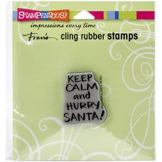 Stampendous Christmas Cling Rubber Stamp 4.75inX4.5inKeep Calm