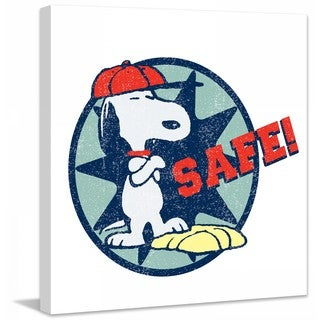 """Marmont Hill - """"Safe"""" Peanuts Print on Canvas"""