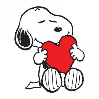 "Marmont Hill - ""Snoopy Heart"" Peanuts Print on Canvas"