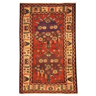 Handmade One-of-a-Kind Balouchi Wool Rug (Afghanistan) - 3' x 4'8