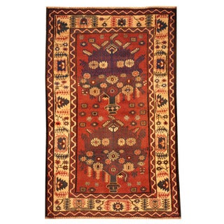 Herat Oriental Afghan Hand-knotted Tribal Balouchi Wool Rug (3' x 4'8)