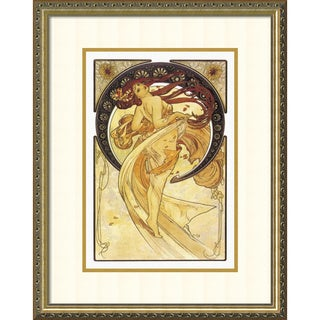 Alphonse Mucha 'Dance (Golden), 1898' Framed Art Print 20 x 26-inch