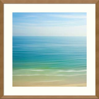 David Rowell 'Seacoast 121' Framed Art Print 21 x 21-inch