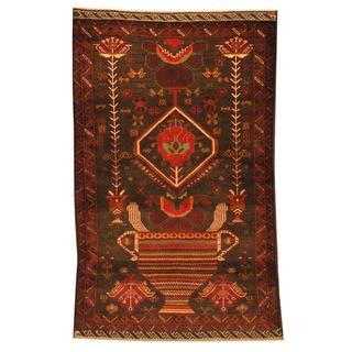 Handmade One-of-a-Kind Balouchi Wool Rug (Afghanistan) - 2'8 x 4'1