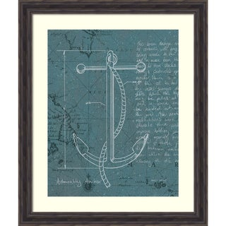Marco Fabiano 'Coastal Blueprint VIII Dark' Framed Art Print 27 x 32-inch