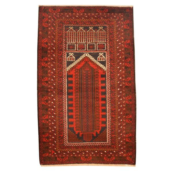 Herat Oriental Afghan Hand-knotted Tribal Balouchi Wool Rug (2'10 x 4'7) - 2'10 x 4'7