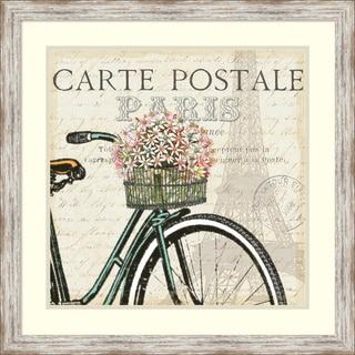 Pela Studio 'Paris Ride I' Framed Art Print 27 x 27-inch