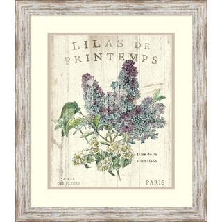 Sue Schlabach 'Lilas de Printemps' Framed Art Print 20 x 23-inch