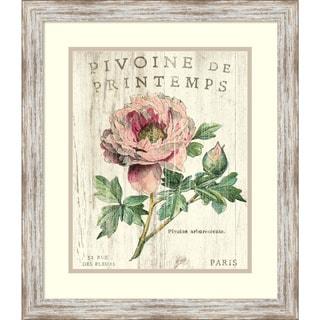 Sue Schlabach 'Pivoine de Printemps' Framed Art Print 20 x 23-inch