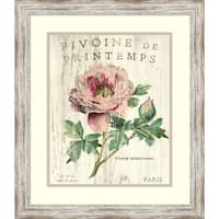 Framed Art Print 'Pivoine de Printemps' by Sue Schlabach 20 x 23-inch - Pink/Green