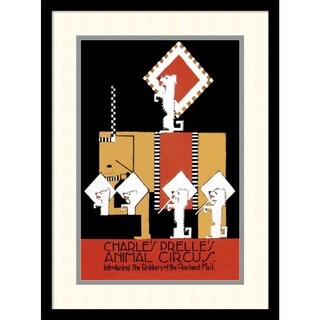 Vintage Elephant 'Charles Prelle's Animal Circus' Framed Art Print 16 x 21-inch