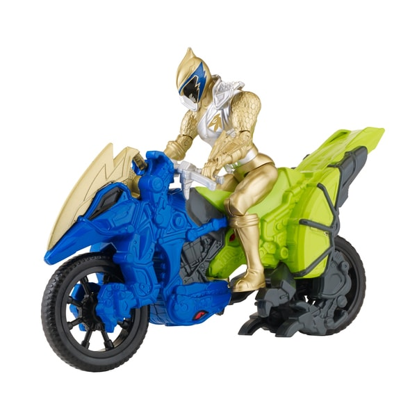 Bandai Power Rangers Dino Cycle with Gold Ranger