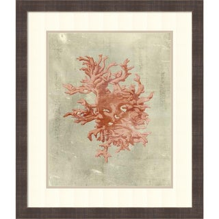 Vision Studio 'Coral in Terra Cotta' Framed Art Print 24 x 28-inch