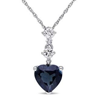 Miadora 10k White Gold Multi-gemstone and Diamond Accent Necklace