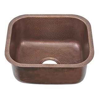 """Sinkology Sisley Pro Undermount 18.5"""" Bar Prep Sink in Antique Copper"""