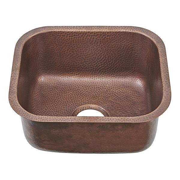 """Sinkology Sisley Pro Undermount 18.5"""" Bar Prep Sink in Antique Copper. Opens flyout."""