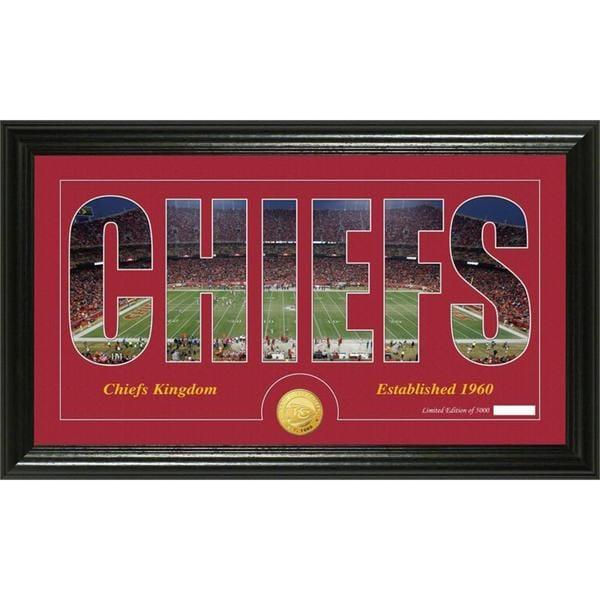 Kansas City Chiefs 'Silhouette' Bronze Coin Panoramic Photo Mint