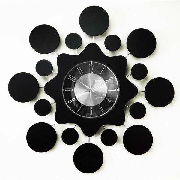 Mid Century Modern Atomic Ball Clock 20-inch, Wood