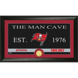 Tampa Bay Buccaneers 'Man Cave' Bronze Coin Panoramic Photo Mint
