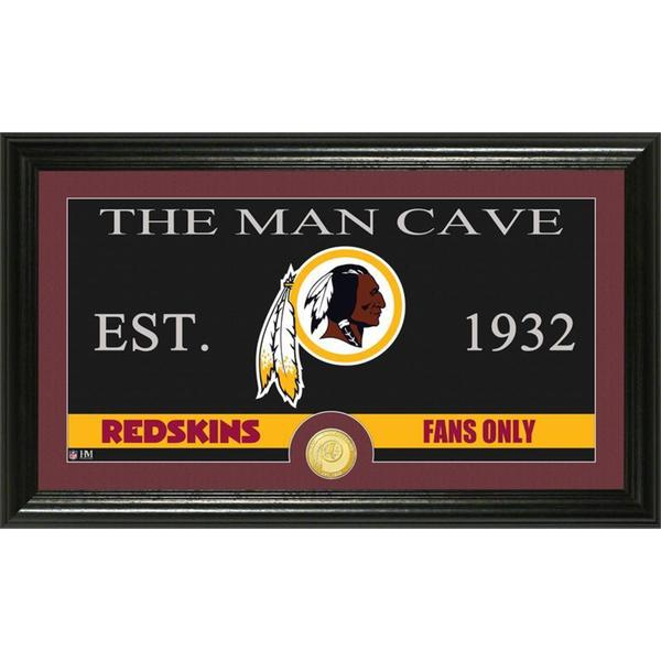 Washington Redskins 'The Man Cave' Bronze Coin Panoramic Photo Mint