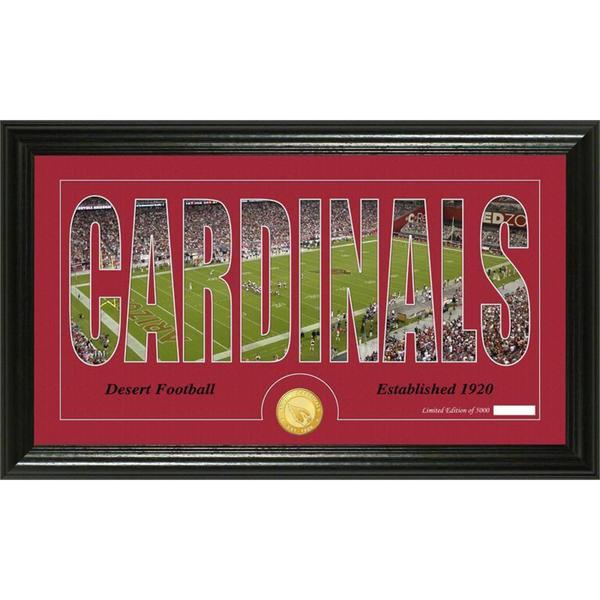 Arizona Cardinals 'Silhouette' Bronze Coin Panoramic Photo Mint