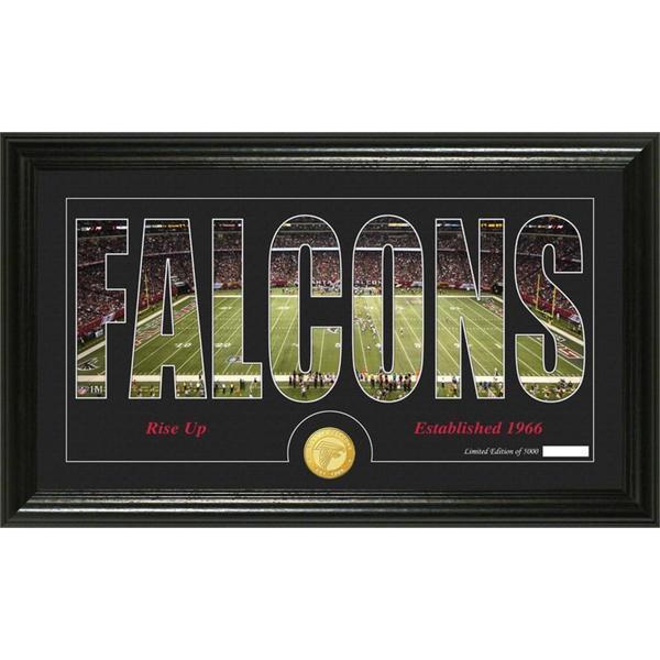 Atlanta Falcons 'Silhouette' Bronze Coin Panoramic Photo Mint