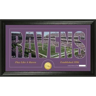Baltimore Ravens 'Silhouette' Bronze Coin Panoramic Photo Mint