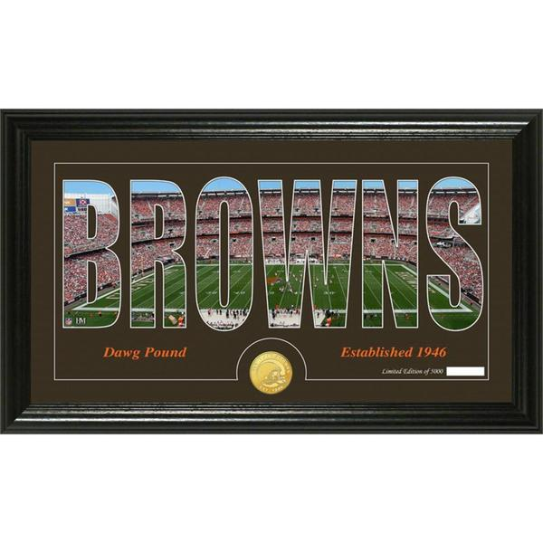 Cleveland Browns 'Silhouette' Bronze Coin Panoramic Photo Mint